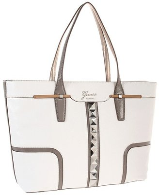 GUESS Gladis Carryall (White Multi) - Bags and Luggage