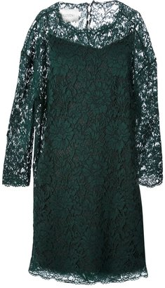 Valentino floral lace shift dress