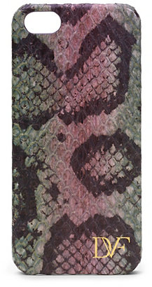 Diane von Furstenberg Camouflage Snake Leather iPhone 5 Case