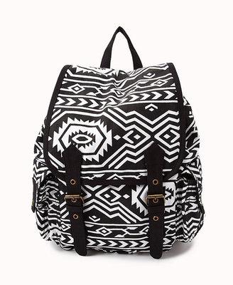 Forever 21 Traveler Tribal Pattern Backpack