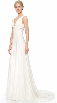 Theia Ruched Chiffon Gown $895 thestylecure.com