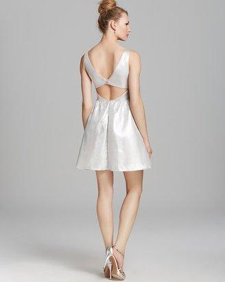 Aqua Sleeveless Open Back Dress