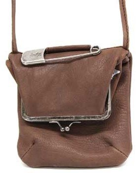 "Sissi Rossi SR0001"" Brown Leather Mini Crossbody Handbags"