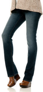 Motherhood Petite Secret Fit Belly® 5 Pocket Straight Leg Maternity Jeans