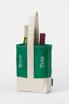 Lands' End Double Canvas Wine Tote