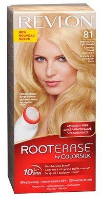 Revlon Root Erase by ColorSilk Ammonia-Free Permanent Color Light Blonde 81
