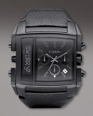 Diesel Ana Digi Watch, Black