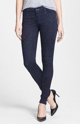 Mother 'The Looker' Print Skinny Jeans (Foulard Me Once)