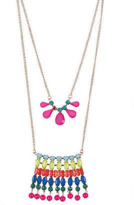 Delia's Two Piece Neon Long Necklace