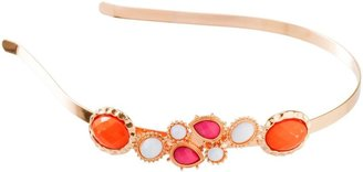 Karina Orange & Pink Chunky Stones Headband