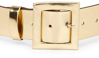 Kate Spade Metallic Leather Wide Belt