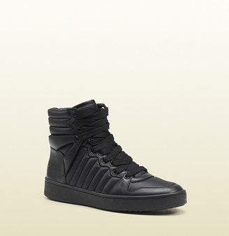 Gucci Hudson Padded Nylon High-Top Sneaker