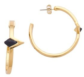 House Of Harlow Navy Triangle Hoop Earrings