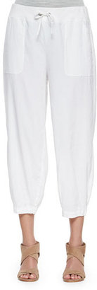 Eileen Fisher Drawstring-Waist Slouchy Capri Pants $228 thestylecure.com