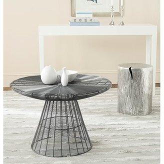 Safavieh Cymble Pedestal Coffee Table Color: Grey