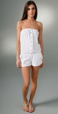 T-Bags Solid Terry Romper