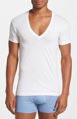 Men's 2(X)Ist Slim Fit Pima Cotton Deep V-Neck T-Shirt $28 thestylecure.com