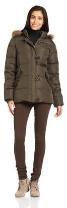 Tommy Hilfiger Women's Short Down Jacket with Toggle Closures