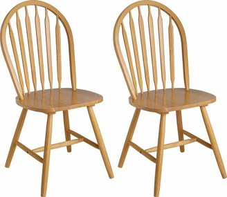 Argos Home Kentucky Pair of Solid Wood Dining Chairs