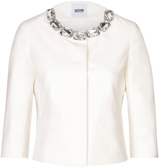 Moschino Cheap & Chic Moschino Cheap and Chic Cotton Jacket with Jeweled Collar