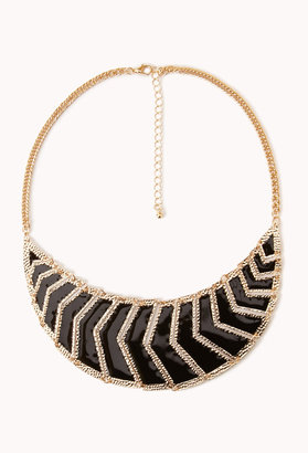 Forever 21 Chevron Bib Necklace