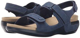 Aravon Katy (Black Leather) Women's Sandals