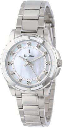 Bulova Women's 96P144 Diamond-Accented Stainless Steel Watch