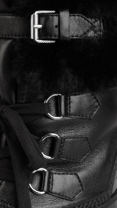 Burberry Shearling Detail Weatherboots