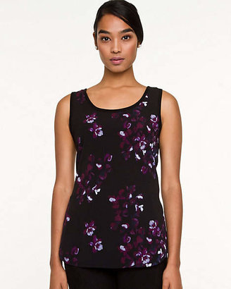 Le Château Floral Woven & Knit Sleeveless Sweater