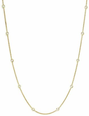 """Roberto Coin 18K Yellow Gold Diamonds by the Inch Necklace, 18"""""""