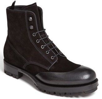 Prada Rubber Overlay Lugged Boot