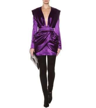 Balmain Wool and silk-blend dress