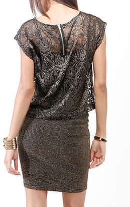 Forever 21 Boxy Lace Top