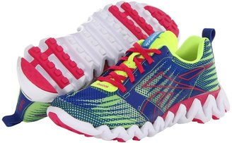 Reebok ZigTech Shark 3.0 EX (Neon Yellow/Tetra Blue/Candy Pink) Women's Running Shoes