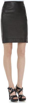 Diane von Furstenberg Rita Two Leather Skirt