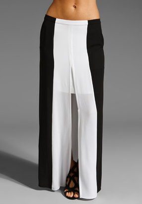 BCBGMAXAZRIA Color Block Maxi Skirt