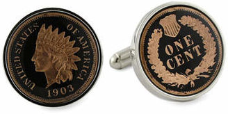 David Donahue Indian Penny Cuff Links