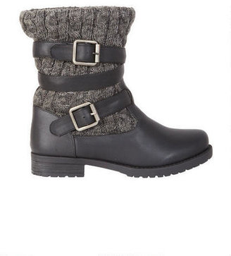 Delia's Carly Cable Knit Engineer Boot