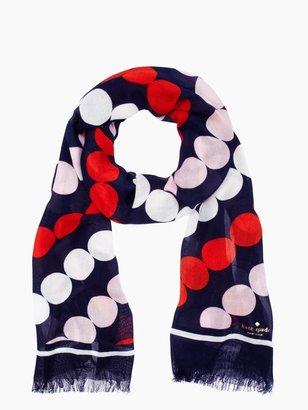 Kate Spade Diagonal dots rectangle scarf