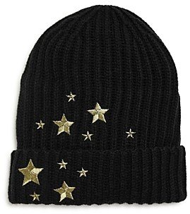 Fraas Girls' Embroidered Star Beanie