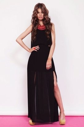 Finders Keepers Let It Rain Maxi Dress in Black $209 thestylecure.com