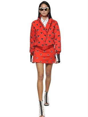 Kenzo Eye Printed Stretch Cotton Denim Jacket