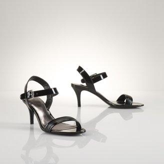 Ralph Lauren Nyla Saffiano-Patent Sandal
