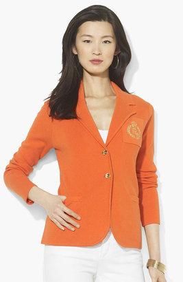 Lauren Ralph Lauren Crested Sweater Blazer