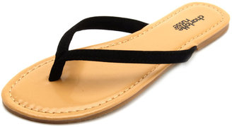 Charlotte Russe Basic Sueded Flip Flop