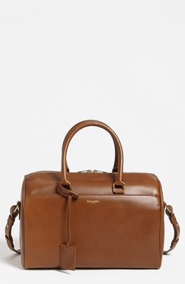 Saint Laurent 'Duffle 6 - Medium' Leather Satchel