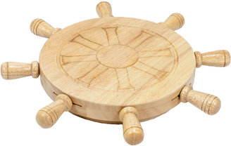Picnic Time Mariner Shipwheel Cutting Board with Tools