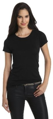 Michael Stars Women's 1X1 Slub Short Sleeve Crew Neck Tee