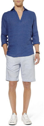J.Crew Striped Cotton and Linen-Blend Shorts