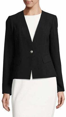 Karl Lagerfeld PARIS One-Button Crepe Blazer